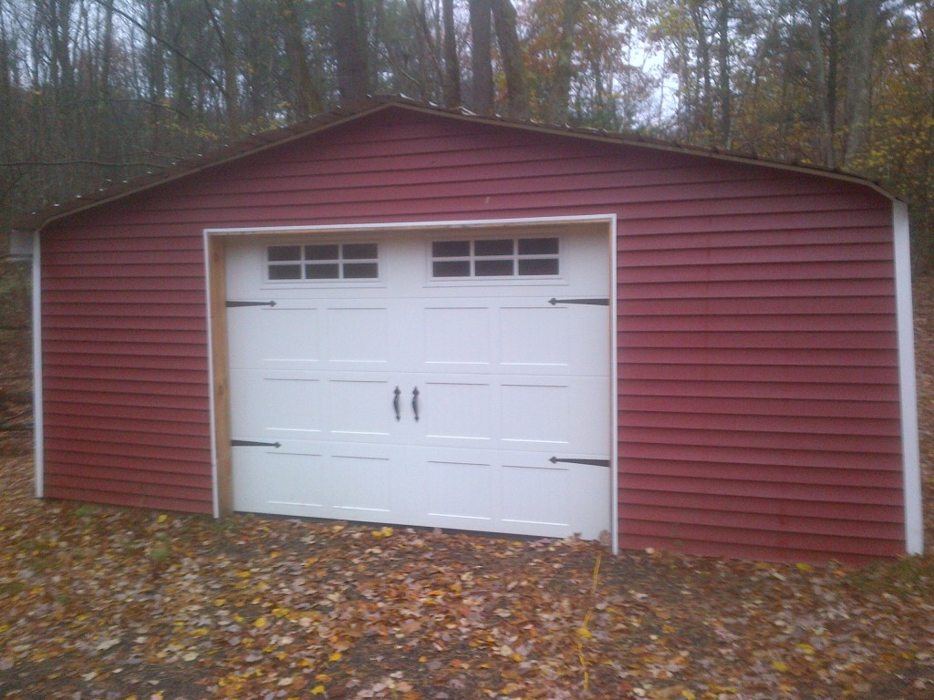 Garage Door on Shed