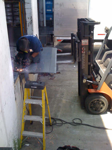 Aligning and Welding Dock